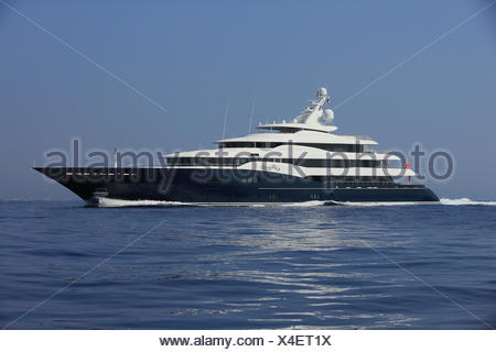 Amaryllis, a cruiser built by Abeking and Rasmussen, length: 78.43 m, built in 2011, off Cap Ferrat, French Riviera, France - Stock Photo
