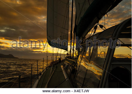 View from deck of boat - Stock Photo