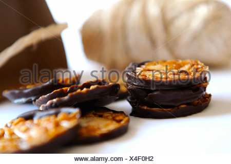Almond florentines - Stock Photo