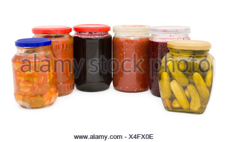 jars of preserves - Stock Photo