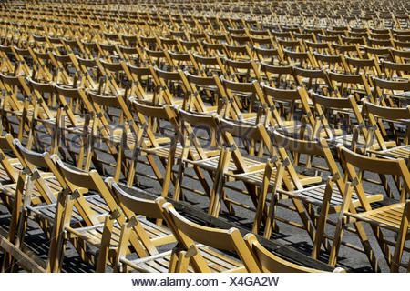 Uncovered areas, chair series, folding chairs, blank, event, event ...