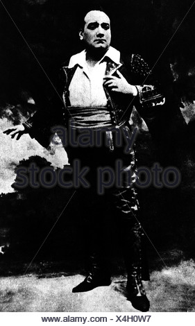 Caruso, Enrico, 27.2.1873 - 2.8.1921, Italian singer, in the opera 'Carmen' by George Bizet, , Additional-Rights-Clearances-NA - Stock Photo