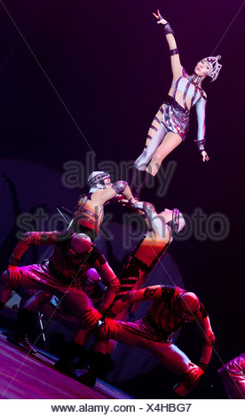 Dosov Troupe, FlicFlac Christmas Circus, premiere of Schrille Nacht, eilige Nacht, Westfalia Hall, Dortmund - Stock Photo
