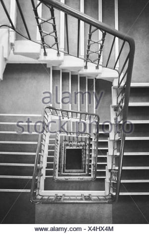 ... Directly Above Shot Of Square Spiral Staircase   Stock Photo