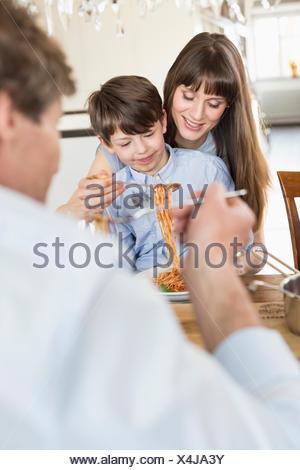 Family having meal - Stock Photo