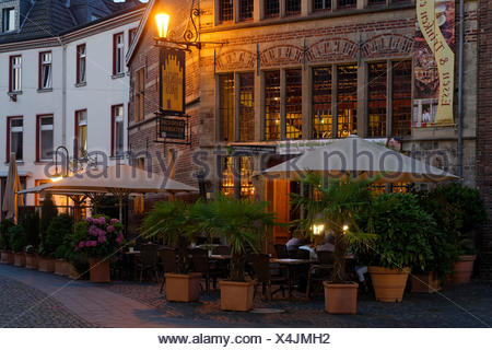Gothic house on the marketplace in the evening light, Xanten, the Lower Rhine, North Rhine-Westphalia, Germany, Europe - Stock Photo