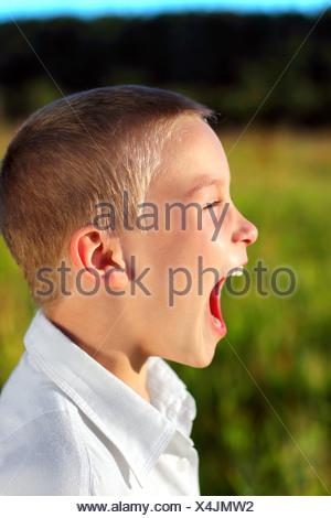screaming boy - Stock Photo