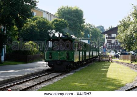 Chiemsee Railway in Prien, Chiemgau, Upper Bavaria, Germany, Europe - Stock Photo