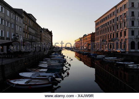 geography / travel, Italy, Friuli, Trieste, Canal Grande, Additional-Rights-Clearance-Info-Not-Available - Stock Photo