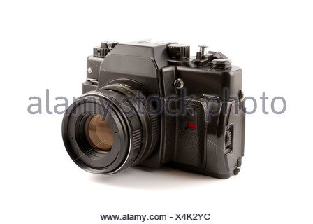 The old film camera let out the last century in Russia - Stock Photo