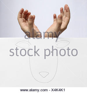 Conceptual image of deer - Stock Photo
