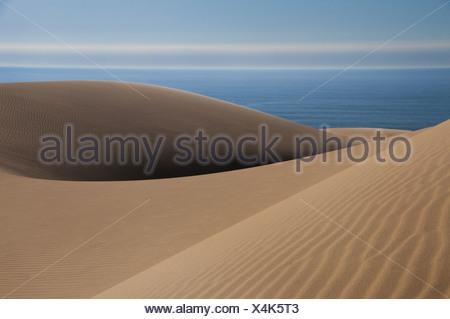 Sand dunes near the Atlantic coastline of the Namib-Naukluft National Park Namibia Namib-Naukluft National Park Namibia - Stock Photo
