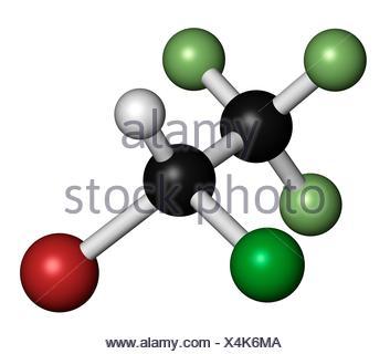 Halothane general anesthetic drug - Stock Photo