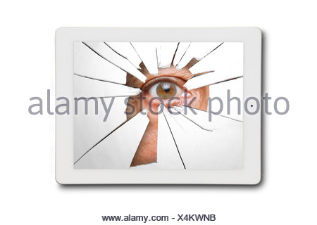 Cyber stalking, conceptual image - Stock Photo