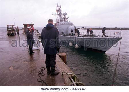 Eckernfoerde, Germany, speedboat