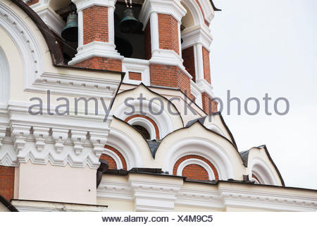 Detail of the Alexander Nevsky Cathedral in Tallinn, - Stock Photo