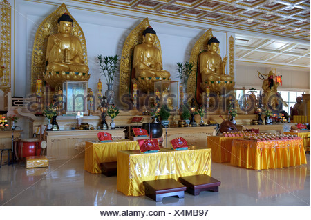 Asia, Taiwan, temple, Dong Fu Zan, East River Valley, religion, inside, - Stock Photo