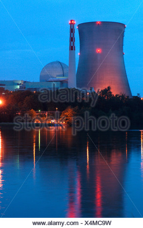 The nuclear power plant in Leibstadt, Switzerland - Stock Photo
