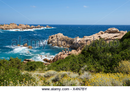 Italy, Sardegna, Sardinia, Europe, European, island, isle, islands, isles, Mediterranean Sea, day, Capo Testa, Santa Teresa Gall - Stock Photo