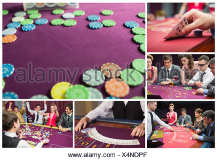 Collage of casino imagery - Stock Photo
