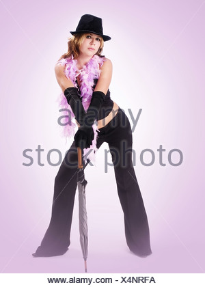 Purple Lady - Stock Photo