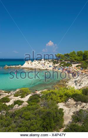 Beach of Portokali, Kavourotypes, Sithonia, Chalkidiki or Halkidiki, Greece, Europe Stock Photo