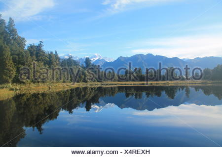Lake Matheson, New Zealand - Stock Photo