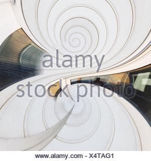 Digital Composite Image Of White Kaleidoscopic Pattern - Stock Photo