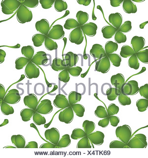 clover pattern - Stock Photo