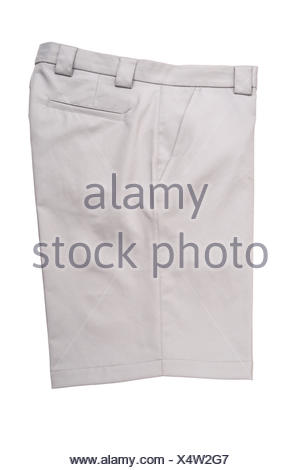 Short Grey Pants for Men Isolated - Stock Photo