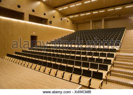 Auditorium of Juan Crisostomo de Arriaga music conservatory, Sarriko, Bilbao. Biscay, Basque Country, Spain - Stock Photo