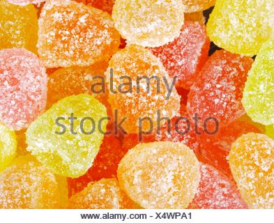 Sweet colorful fruit jelly candies. - Stock Photo