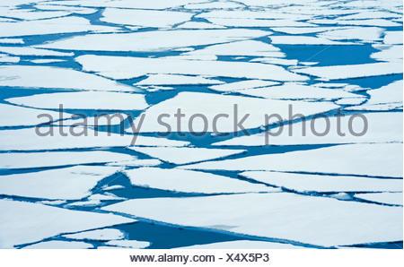 Ice breaking up on Lake Superior in late winter  Nipigon Ontario Canada - Stock Photo