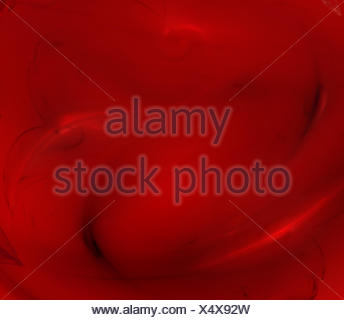 abstract red fractal background - Stock Photo