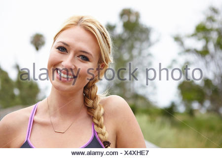 Woman with wide smile - Stock Photo