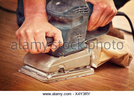 sander in action - Stock Photo
