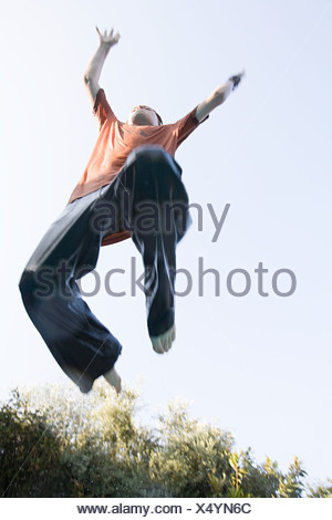 Boy jumping - Stock Photo