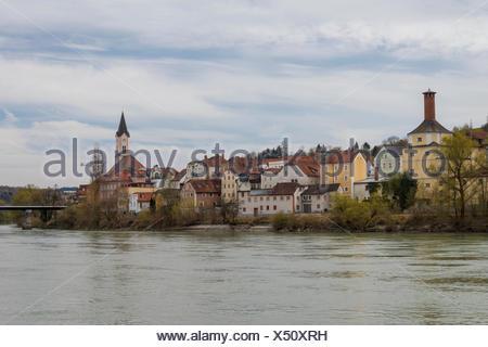 innstadt in passau - Stock Photo