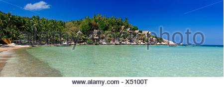 Koh Tao, Cabana Hotel, Sai Ree, Beach, Koh Tao, Thailand, Asia, - Stock Photo
