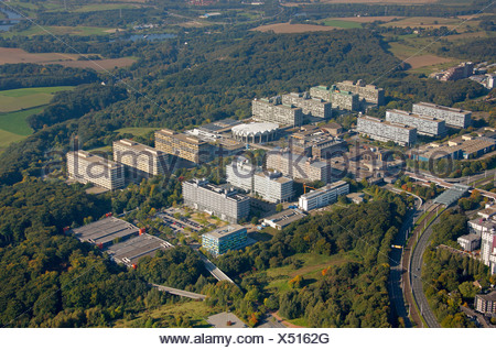Aerial photograph, Centre for Biomedicine at the RUB, Ruhr University, Bochum, Ruhr district, North Rhine-Westphalia, Germany,  - Stock Photo