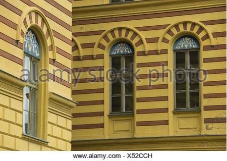 Serbien, Provinz Vojvodina, Sremski Karlovci, Hausfassade, Detail, - Stock Photo