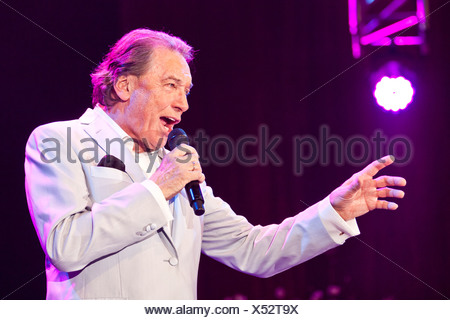 Czech pop singer Karel Gott performing live at the Schlager Nacht 2012, pop song night, in Lucerne, Switzerland, Europe - Stock Photo