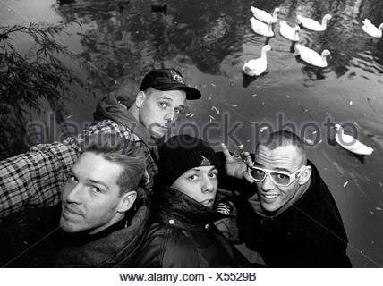 Die Fantastischen Vier, German music group (rap, hip hop), formed in 1986, group picture, 1994, - Stock Photo