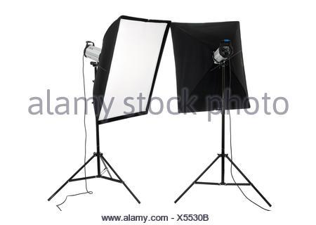 studio flashes - Stock Photo