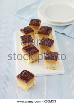 Marbled millionaire's shortbread - Stock Photo