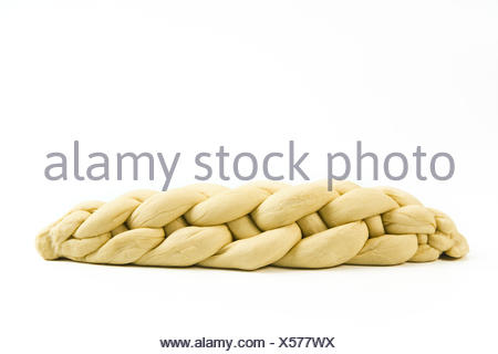 braided plaited loaf - Stock Photo