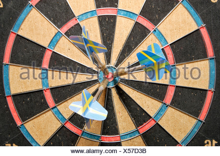 Aim or target with dart arrows - Stock Photo