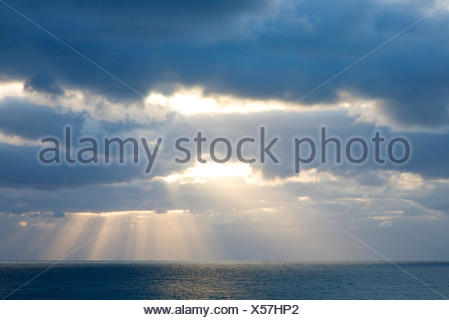 storm clouds over the North Sea, Germany, Schleswig-Holstein, Heligoland - Stock Photo