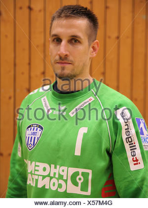 Goalkeeper Thomas Bauer (TBV Lemgo) - Stock Photo