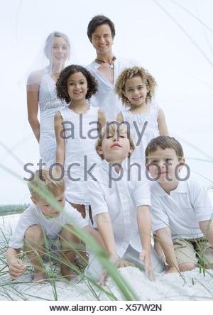 Wedding portrait on beach - Stock Photo